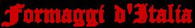 Formaggi d'Italia Logo